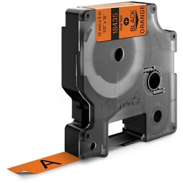 Original Dymo 18435 / S0718490 Farbband Vinyl schwarz auf orange