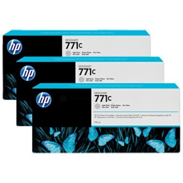 Original HP B6Y38A / 771C Tintenpatrone fotograu 775 ml