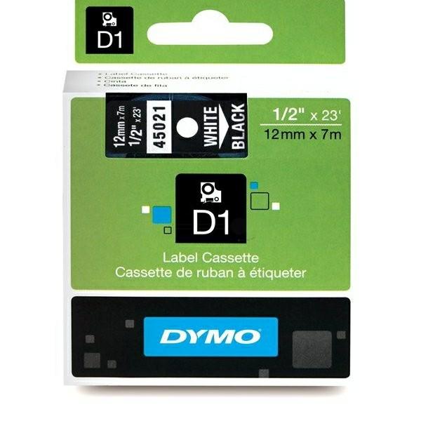 Original Dymo 45021 / S0720610 DirectLabel-Etiketten weiss auf schwarz