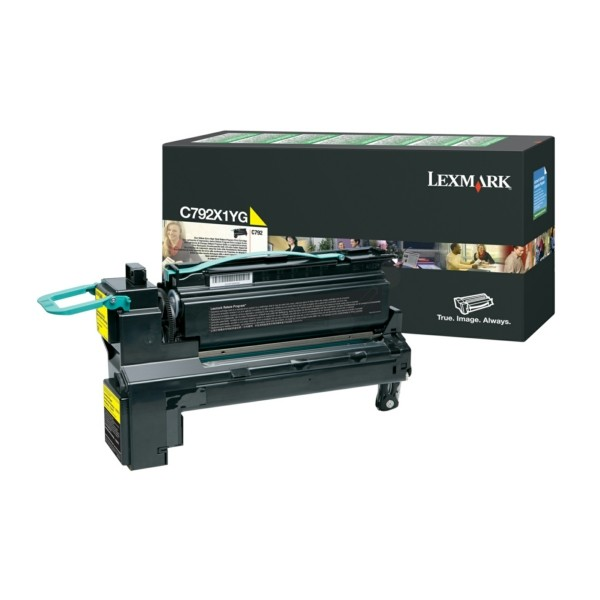 Original Lexmark C792X1YG Tonerkartusche gelb return program 20.000 Seiten