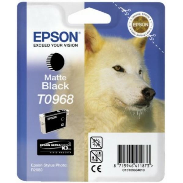 Original Epson C13T09684010 / T0968 Tintenpatrone schwarz matt 11,4 ml 495 Seiten