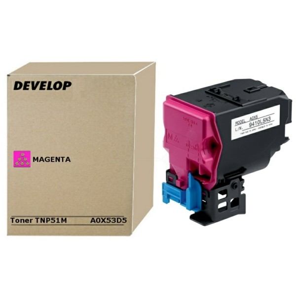 Original Develop A0X53D5 / TNP-51 M Toner-Kit magenta 5.000 Seiten