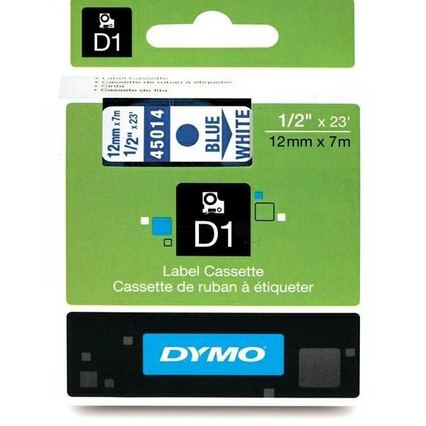 Original Dymo 45014 / S0720540 DirectLabel-Etiketten blau auf weiss