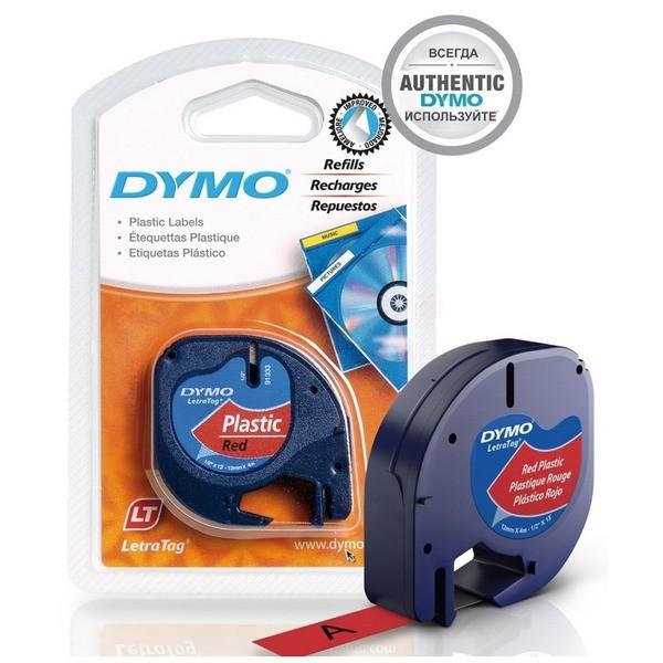 Original Dymo 91203 / S0721630 DirectLabel-Etiketten Polyester rot
