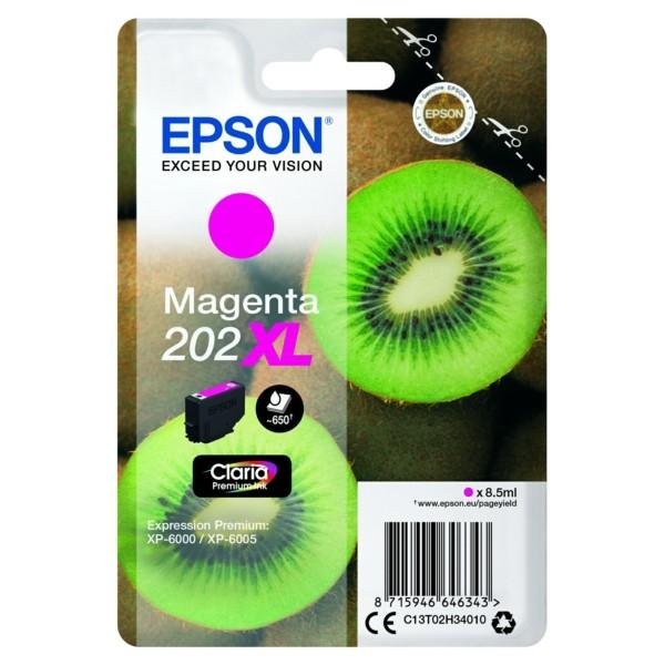 Original Epson C13T02H34010 / 202XL Tintenpatrone magenta 8,5 ml 650 Seiten