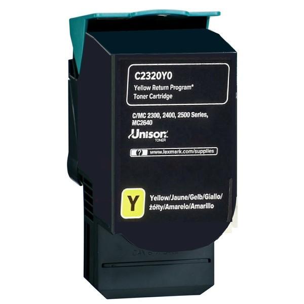 Original Lexmark C2320Y0 Toner-Kit gelb return program 1.000 Seiten