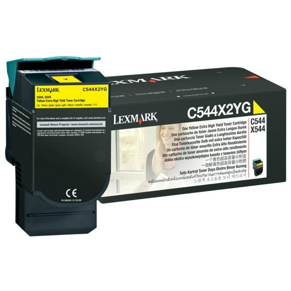 Original Lexmark C544X2YG Toner gelb 4.000 Seiten