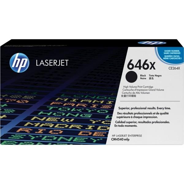 Original HP CE264X / 646X Tonerkartusche schwarz 17.000 Seiten