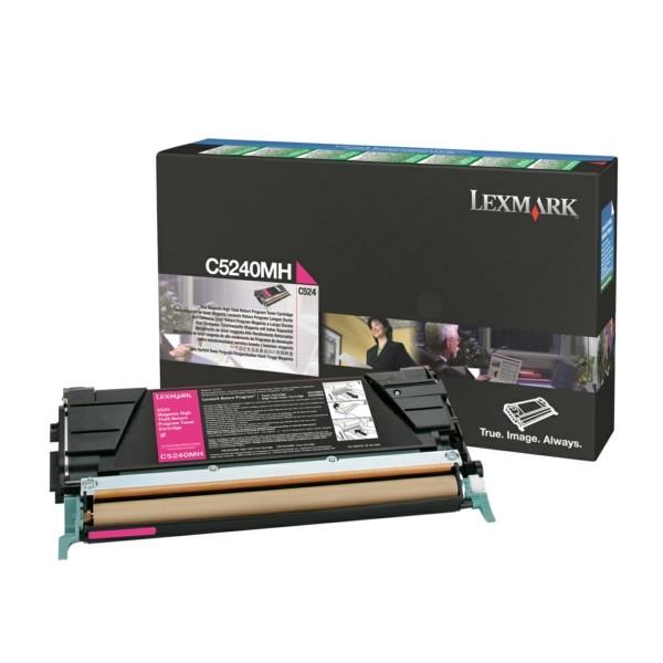 Original Lexmark C5240MH Toner-Kit magenta return program 5.000 Seiten