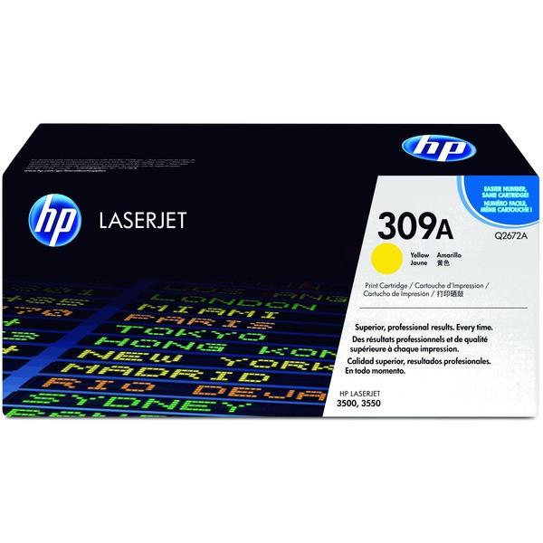 Original HP Q2672A / 309A Tonerkartusche gelb 4.000 Seiten