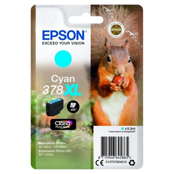 Original Epson C13T37924010 / 378XL Tintenpatrone cyan 9,3 ml 830 Seiten