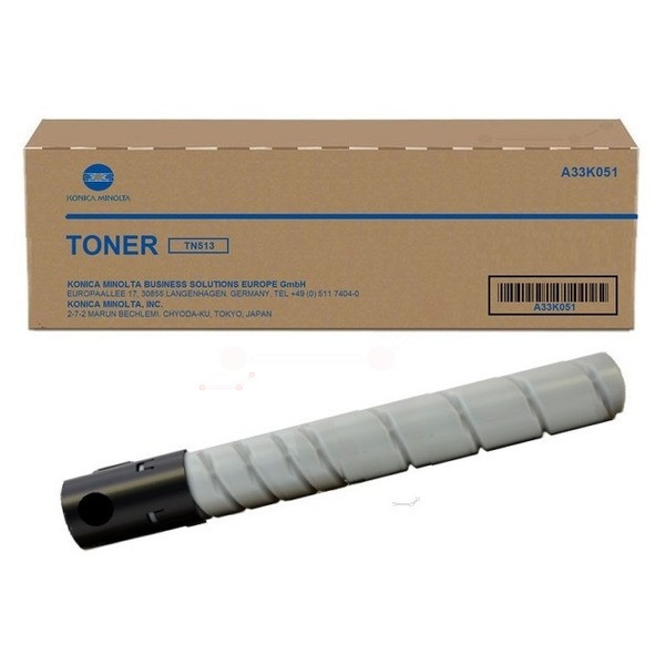 Original Konica Minolta A33K051 / TN-513 Toner schwarz 29.280 Seiten