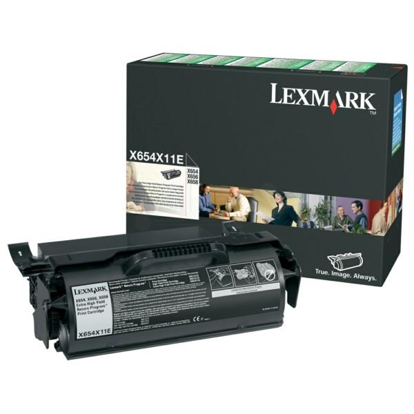 Original Lexmark X654X11E Tonerkartusche schwarz return program 36.000 Seiten