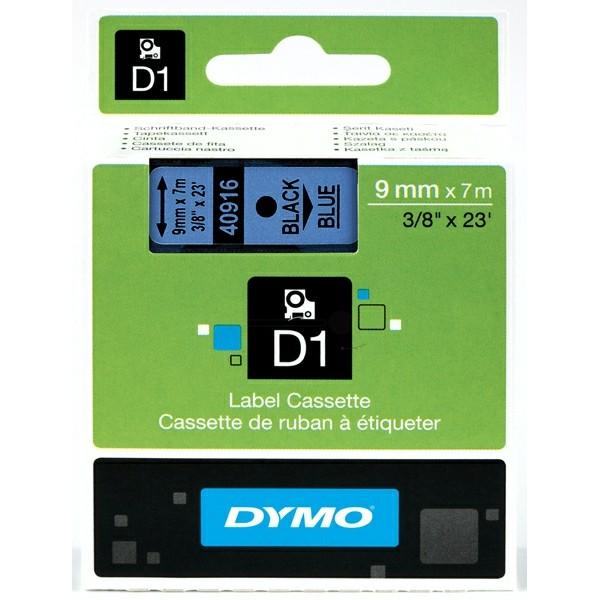 Original Dymo 40916 / S0720710 DirectLabel-Etiketten schwarz auf blau