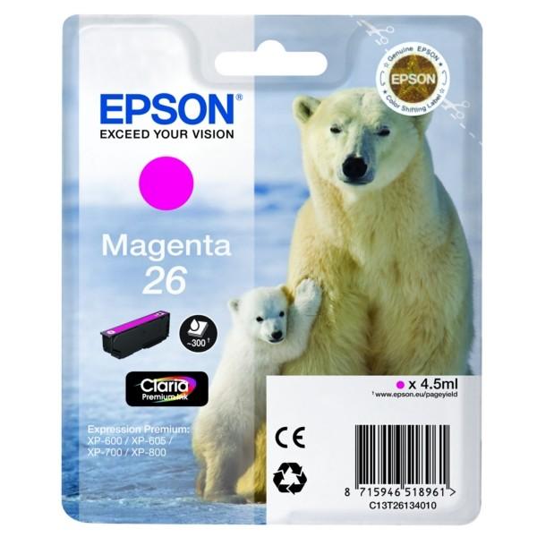 Original Epson C13T26134010 / 26 Tintenpatrone magenta 4,5 ml 300 Seiten