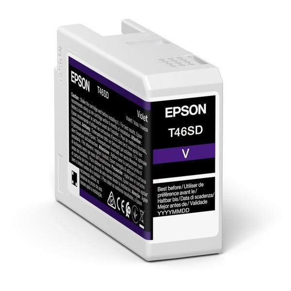 Original Epson C13T46SD00 / T46SD Tintenpatrone violett 25 ml