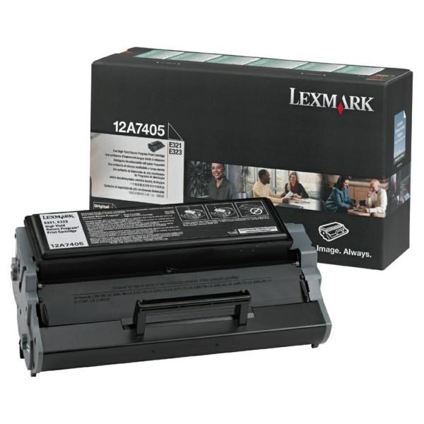 Original Lexmark 12A7405 Tonerkartusche schwarz return program 6.000 Seiten
