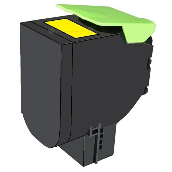 Original Lexmark 80C2XY0 / 802XY Toner-Kit gelb return program 4.000 Seiten