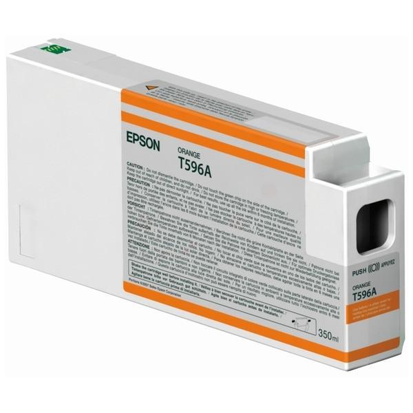 Original Epson C13T596A00 / T596A Tintenpatrone orange 350 ml