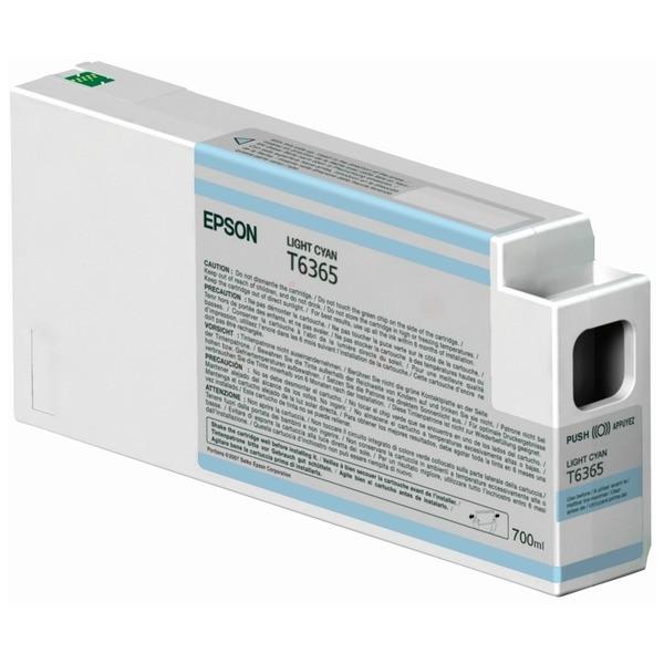 Original Epson C13T636500 / T6365 Tintenpatrone cyan hell 700 ml