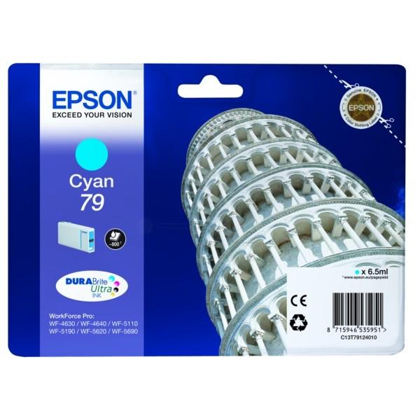 Original Epson C13T79124010 / 79 Tintenpatrone cyan 6,5 ml 800 Seiten