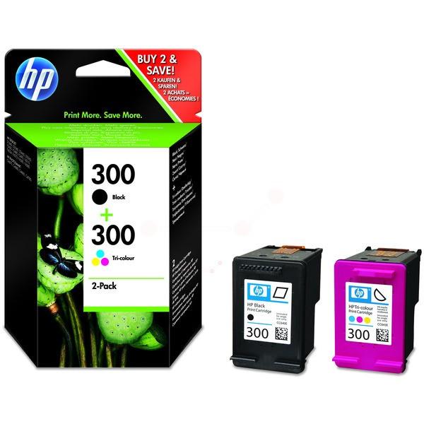 Original HP CN637EE / 300 Druckkopfpatrone Multipack schwarz + color 200 Seiten 200pg + 160 pg