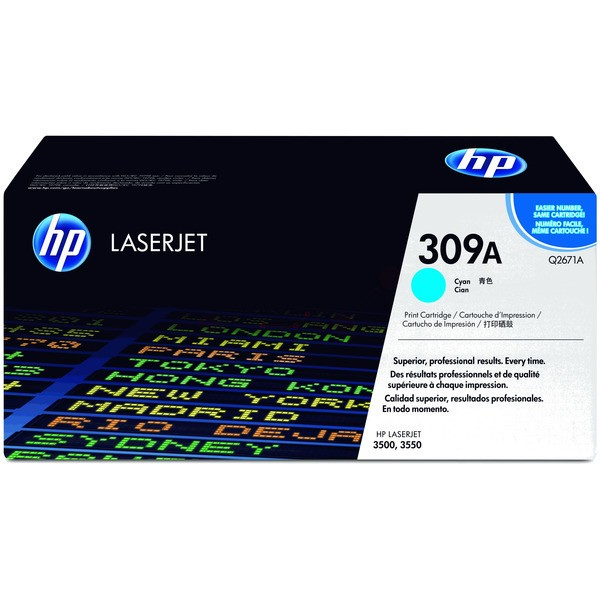 Original HP Q2671A / 309A Tonerkartusche cyan 4.000 Seiten