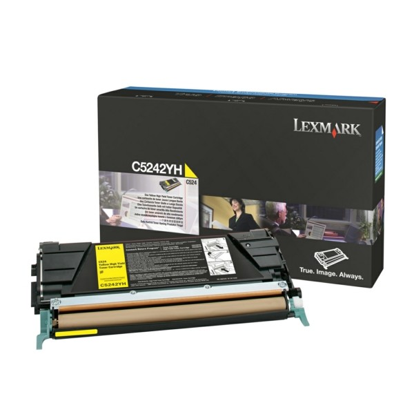 Original Lexmark C5242YH Toner-Kit gelb 5.000 Seiten