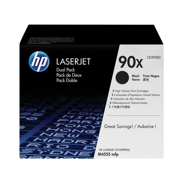 Original HP CE390XD / 90X Tonerkartusche schwarz Doppelpack 24.000 Seiten