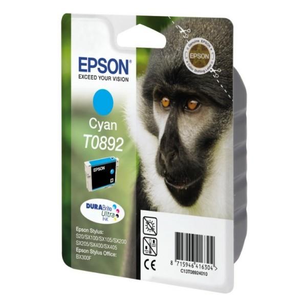 Original Epson C13T08924011 / T0892 Tintenpatrone cyan 3,5 ml 170 Seiten