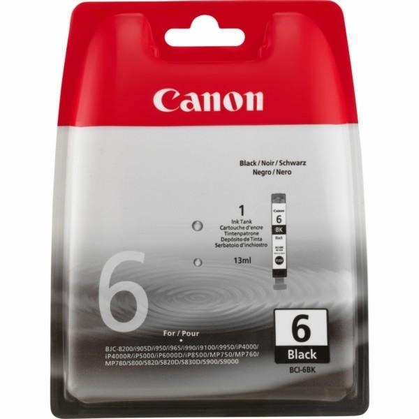Original Canon 4705A002 / BCI-6 BK Tintenpatrone schwarz 13 ml 210 Seiten