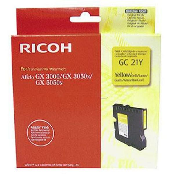 Original Ricoh 405535 / GC-21 Y Gelkartusche gelb 1.000 Seiten