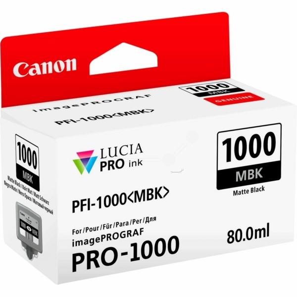 Original Canon 0545C001 / PFI-1000 MBK Tintenpatrone schwarz matt 80 ml 5.490 Seiten