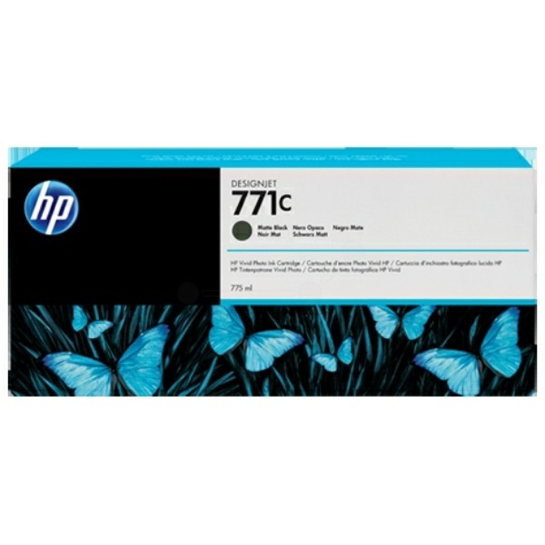 Original HP B6Y07A / 771C Tintenpatrone schwarz matt 775 ml