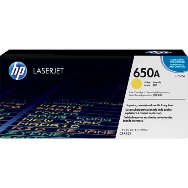 Original HP CE272A / 650A Tonerkartusche gelb 15.000 Seiten