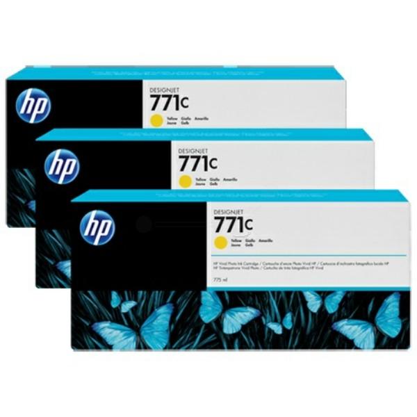 Original HP B6Y34A / 771C Tintenpatrone gelb 775 ml
