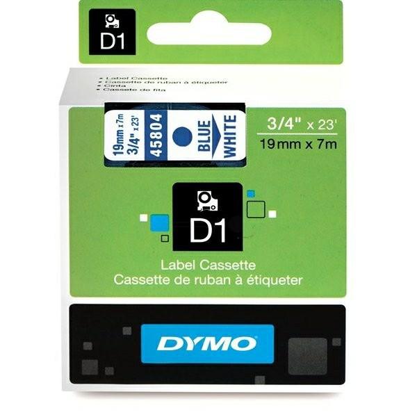 Original Dymo 45804 / S0720840 DirectLabel-Etiketten blau auf weiss