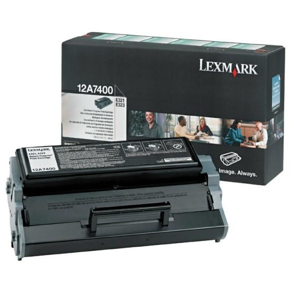 Original Lexmark 12A7400 Tonerkartusche schwarz return program 3.000 Seiten