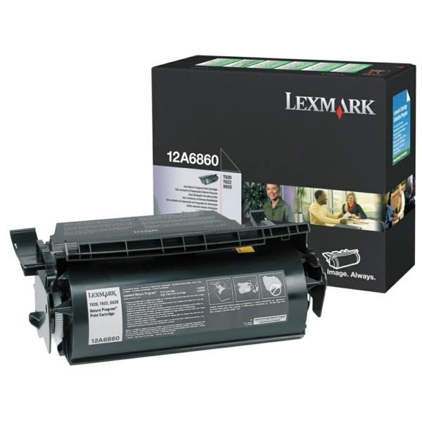 Original Lexmark 12A6860 Tonerkartusche schwarz return program 10.000 Seiten
