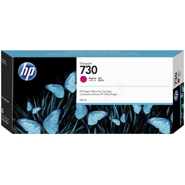 Original HP P2V69A / 730 Tintenpatrone magenta 300 ml