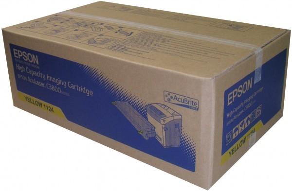 Original Epson c13S051124 / S051124 Toner yellow 9.000 Seiten