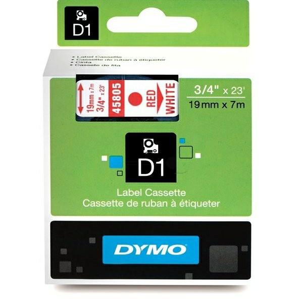 Original Dymo 45805 / S0720850 DirectLabel-Etiketten rot auf weiss