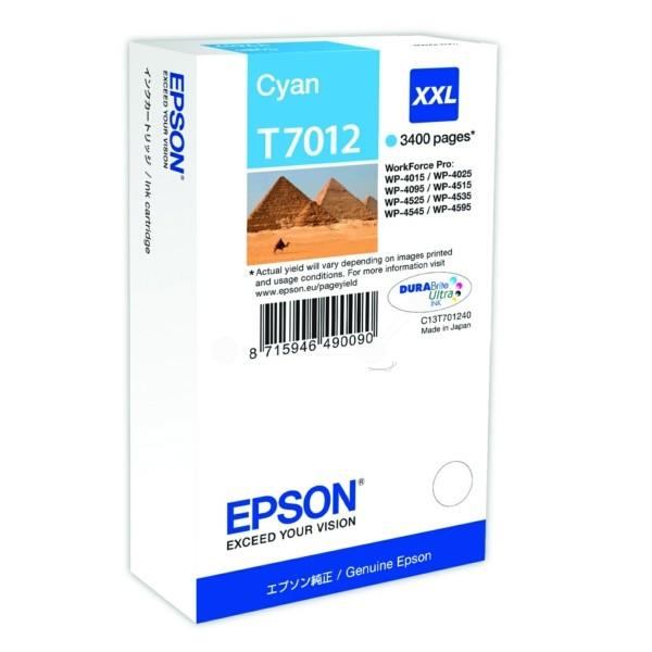 Original Epson C13T70124010 / T7012 Tintenpatrone cyan XXL 34,2 ml 3.400 Seiten