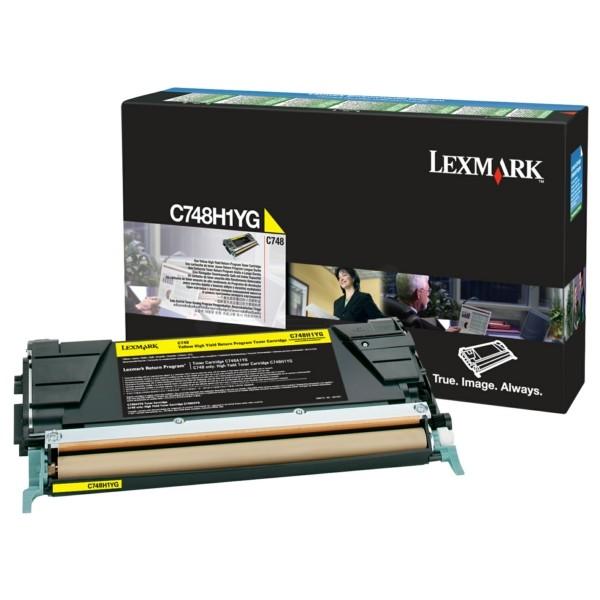 Original Lexmark C748H1YG Tonerkartusche gelb return program 10.000 Seiten