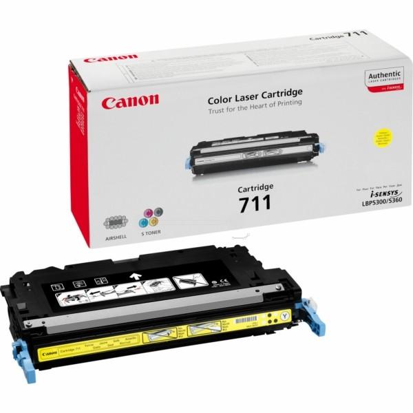 Original Canon 1657B002 / 711Y Tonerkartusche gelb 6.000 Seiten