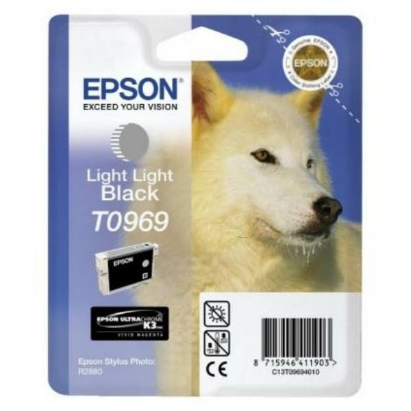 Original Epson C13T09694010 / T0969 Tintenpatrone schwarz hell hell 11,4 ml 6.065 Seiten