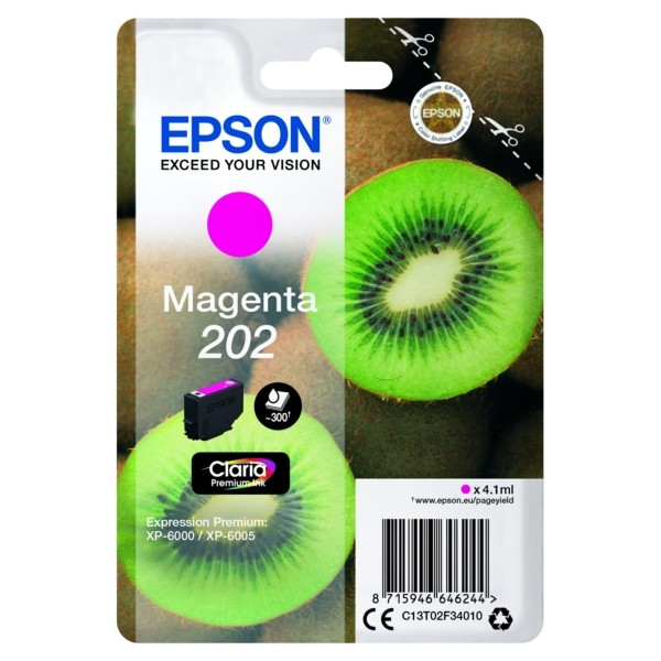 Original Epson C13T02F34010 / 202 Tintenpatrone magenta 4,1 ml 300 Seiten