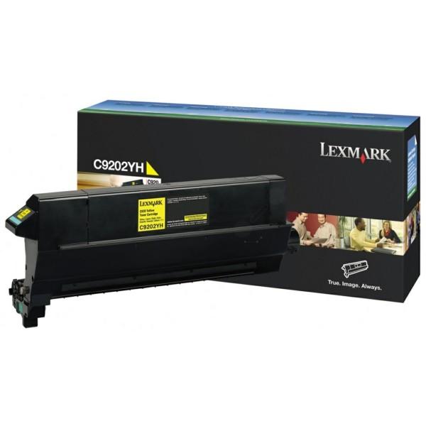 Original Lexmark C9202YH Toner gelb 14.000 Seiten