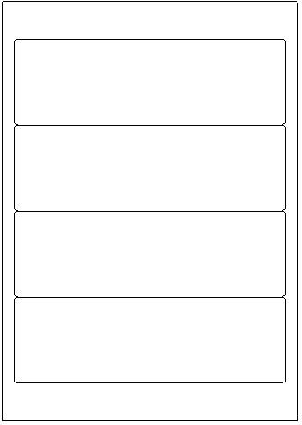 192x61mm (Ordnerrücken breit) opak 100 Bogen 4 Etik/Bogen = 400