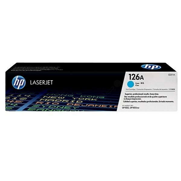 Original HP CE311A / 126A Toner cyan 1.000 Seiten
